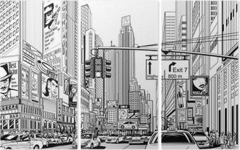 Gade i New York City Triptykon