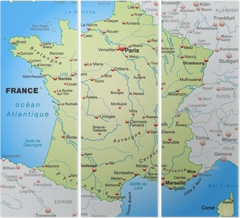 Detaljeret Kort Over Frankrig Schweiz Pentatykon Pixers Vi