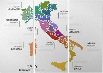 Kort Over Italien Plakat Pixers Vi Lever For Forandringer