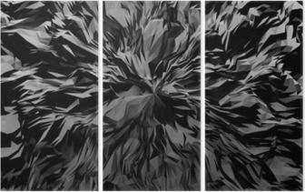 Triptyque 3d abstrait