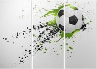 Triptyque Ballon de football en vol
