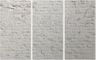 Triptyque Blanc grunge fond mur de briques