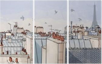 Triptyque France - les toits de Paris