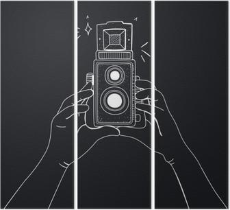 Triptyque Illustration de l'appareil photo