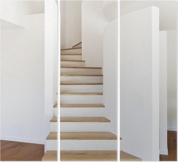 Triptyque Interieur Maison Moderne Escalier Parquet Pixers