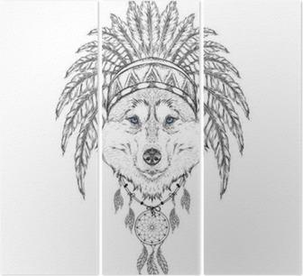 Diptyque La Tete De Couleur Patterned Du Loup Africaine Indien