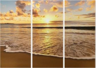 Triptyque Magnifique coucher de soleil sur la plage