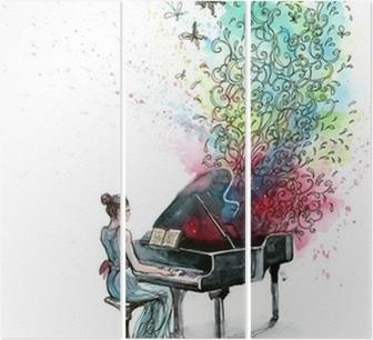 Triptyque Piano musique (série C)