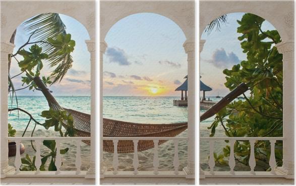 Triptyque Terrasse Hamac Et Le Soleil Pixers Nous Vivons Pour