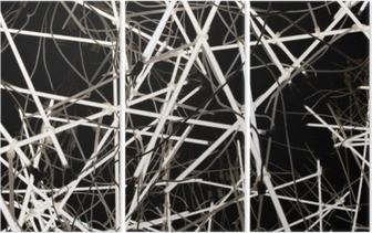 Triptyque Tubes de néon texture de fond doux