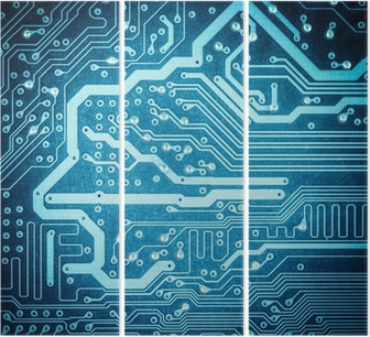 Trittico Circuito blu board texture Primo piano