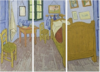 Quadro su Tela Vincent van Gogh - Camera da letto in Arles • Pixers ...