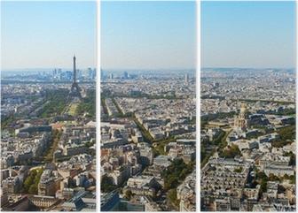 Tryptyk Widok z lotu ptaka Paryżu