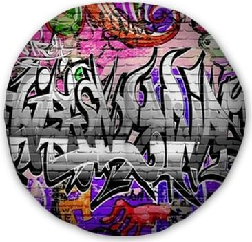 Graffiti vector art  Urban wall with spray paint