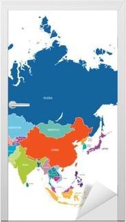 Türaufkleber Asien-Karte