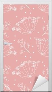 Türaufkleber Dill oder Fenchel Blumen und verlässt Muster.