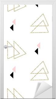 Türaufkleber Geometrisch