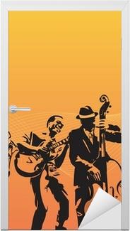 Türaufkleber Zeichnen Saxophonisten U2022 Pixers®   Wir Leben, Um Zu Verändern