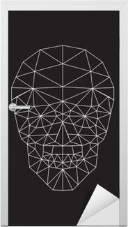 Türaufkleber Polygon-Vektor-Schädel.