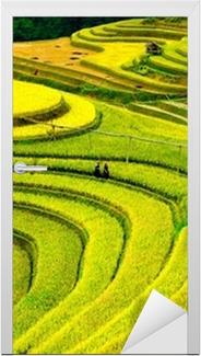 Türaufkleber Reisfelder auf Terrassen in vietnam