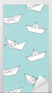 Türaufkleber Schiffchen-Muster