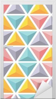 Türaufkleber Vektor nahtlose Muster mit bunten Dreieck Pyramiden.