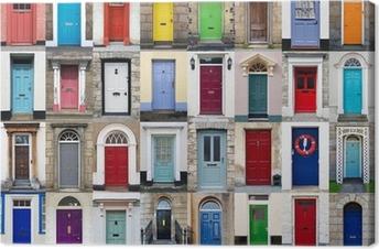 Tuval Baskı 32 Ön kapılar yatay kolaj