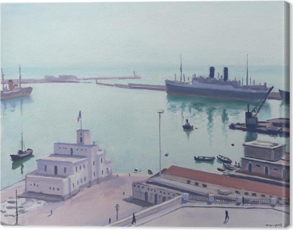 Tuval Baskı Albert Marquet - Porto de Argel, edifício do Almirantado - Reproductions