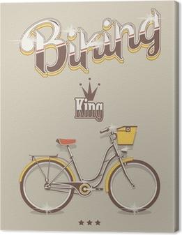 Tuval Baskı Arka plan Bisiklet, vektör bisiklet kral