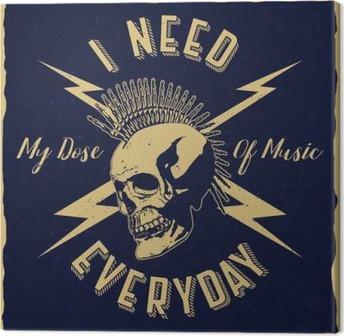 Tuval Baskı Ben t-shirt, poster, logolar, tebrik kartları vb müzik günlük etiket tasarımı benim doz gerekir