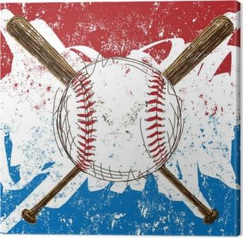 Tuval Baskı Beyzbol Bayrak arka plan