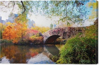 Tuval Baskı Central Park, New York Sonbahar