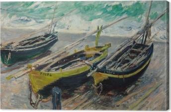 Tuval Baskı Claude Monet - Üç Balıkçı Tekneleri