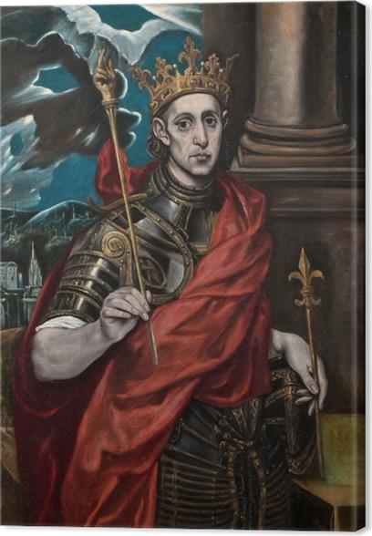 Tuval Baskı El Greco - Aziz Louis - Benzetiler