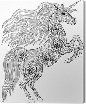 El Yetiskin Anti Stres Boyama Sayfa Zeka Icin Sihirli Unicorn