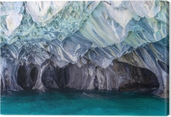 Tuval Baskı Göl General Carrera mermer Mağaraları (Şili)