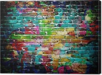 Tuval Baskı Grafiti tuğla duvar