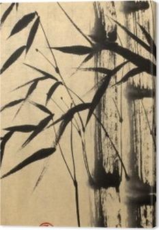 Tuval Baskı İki bambu ağacı