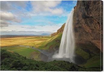 Tuval Baskı İzlanda şelale - Seljalandsfoss