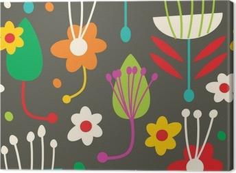 Tuval Baskı Kesintisiz çiçek deseni doodle