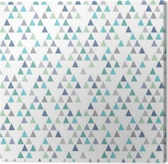 Tuval Baskı Kesintisiz yenilikçi geometrik desen aqua mavi üçgenler