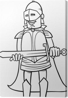 Kılıç Karikatür Boyama Ile şövalye Duvar Resmi Pixers Haydi