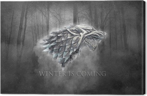 Tuval Baskı Kış geliyor -