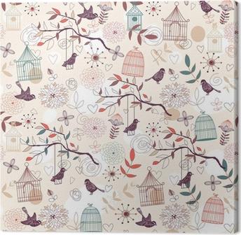 Tuval Baskı Kuşlar desen