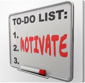 Tuval Baskı Liste Inspire teşvik To Do Kelime Kuru Silme Kurulu motive