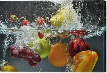 Tuval Baskı Meyve ve sebzeler suya sıçrama