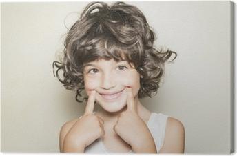 Tuval Baskı Nina'nın mostrando sonrisa