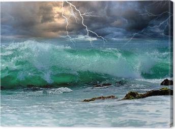 Tuval Baskı Okyanus fırtına
