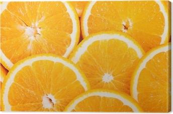 Tuval Baskı Olgun sulu portakal dilimleri