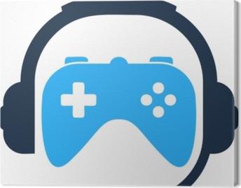 Tuval Baskı Oyun podcast simgesi logo tasarım öğesi